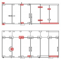 Hardware for glass partitions