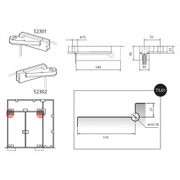 52301/2 - top hinge with...