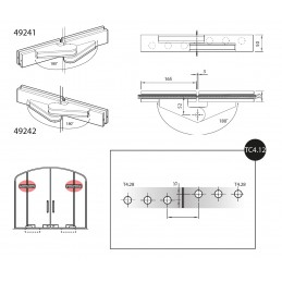 49241/2 - top hinge with...