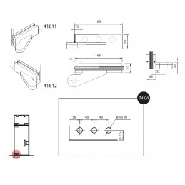 41811/2 - top hinges with...