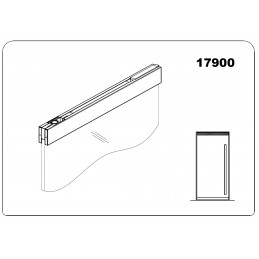 17900 - top door rail