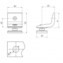 D0815.715 - clamp glass to...